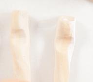 Réaliser un support à bijoux imitation bois flotté en Fimo - étape encoches