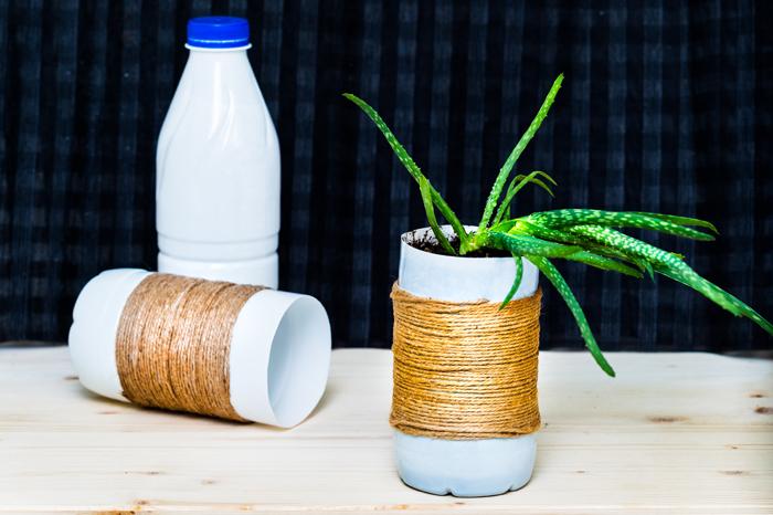 upcycling bouteille de lait