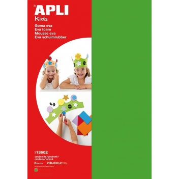 lot-13602 - 8410782136026 - Apli Agipa - Mousse EVA thermoformable A4 Vert 5 feuilles