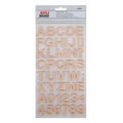 Sticker Alphabet autocollant mousse Saumon
