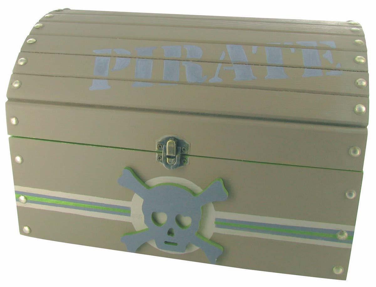 Conception innovante 001ac d3a59 Coffre de pirate en bois 29 x 21,5 x 19 cm