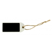 Etiquette Tags ardoise rectangle blanc 7 cm 3 pièces