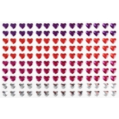 Stickers strass coeurs 0,6 cm 140 pièces
