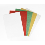 Papier cartonné fort A4 Assortiment pailleté x 5