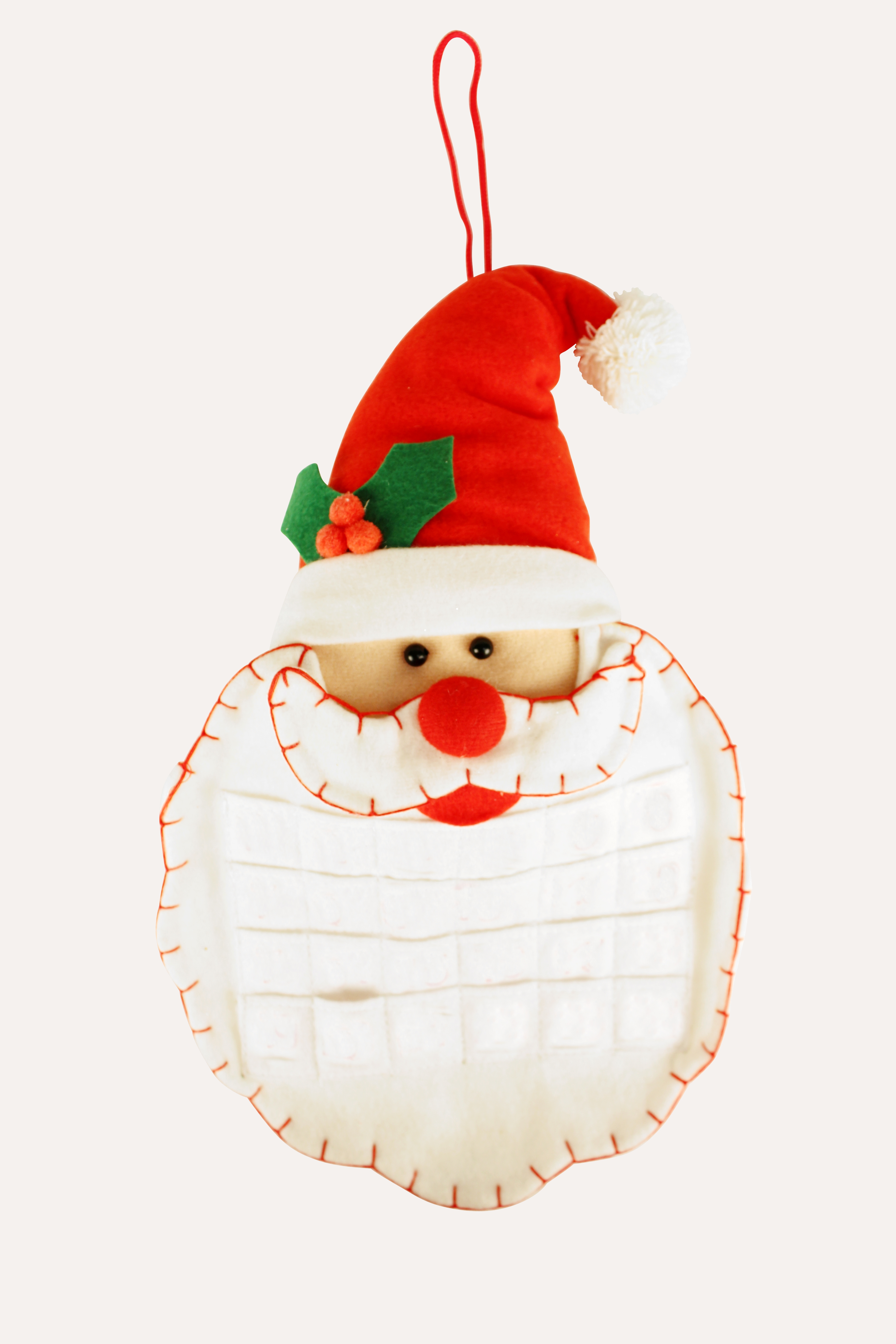 Fabriquer Deco Noel En Feutrine père noël de l'avent feutrine à suspendre 40x22x6,5cm