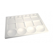 Grande Palette plastique rectangulaire 20 cases 33x25 cm