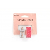 Washi tape Pink rebellion 1,5 cm 2 rouleaux