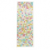 Stickers strass ronds multicolores 0,6 cm 504 pièces