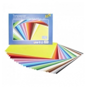 Papier cartonné 35x25 cm 130g 25 couleurs assorties