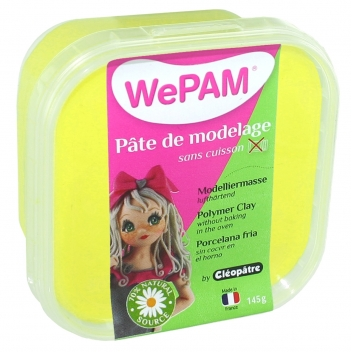 PFW803145 - 3134725005501 - WePam - Porcelaine froide à modeler WePam 145 g Jaune fluo - France - 2