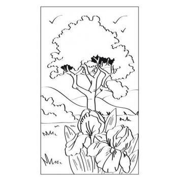 Cartes Aquarelles A Colorier Paysage 10 Piec Coloriage Pour Enfant