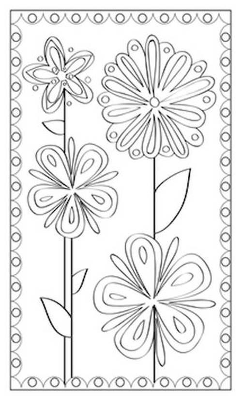 Coloriage Coeur Motif.10 Cartes Aquarelles A Colorier Coeur Fleur Dessin Coloriage
