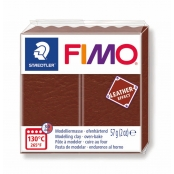 Pâte Fimo Cuir 57 g Leather Effect Marron 8010.779