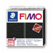 Pâte Fimo Cuir 57 g Leather Effect Noir 8010.909