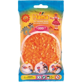 20738 - 28178207380 - Hama - 1 000 perles standard MIDI (Ø5 mm) orange néon - 2
