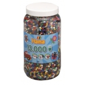 Pot 13 000 perles standard (Ø5 mm) 22 couleurs