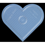 Plaque Grand coeur transparent pour perles standard (Ø5 mm)