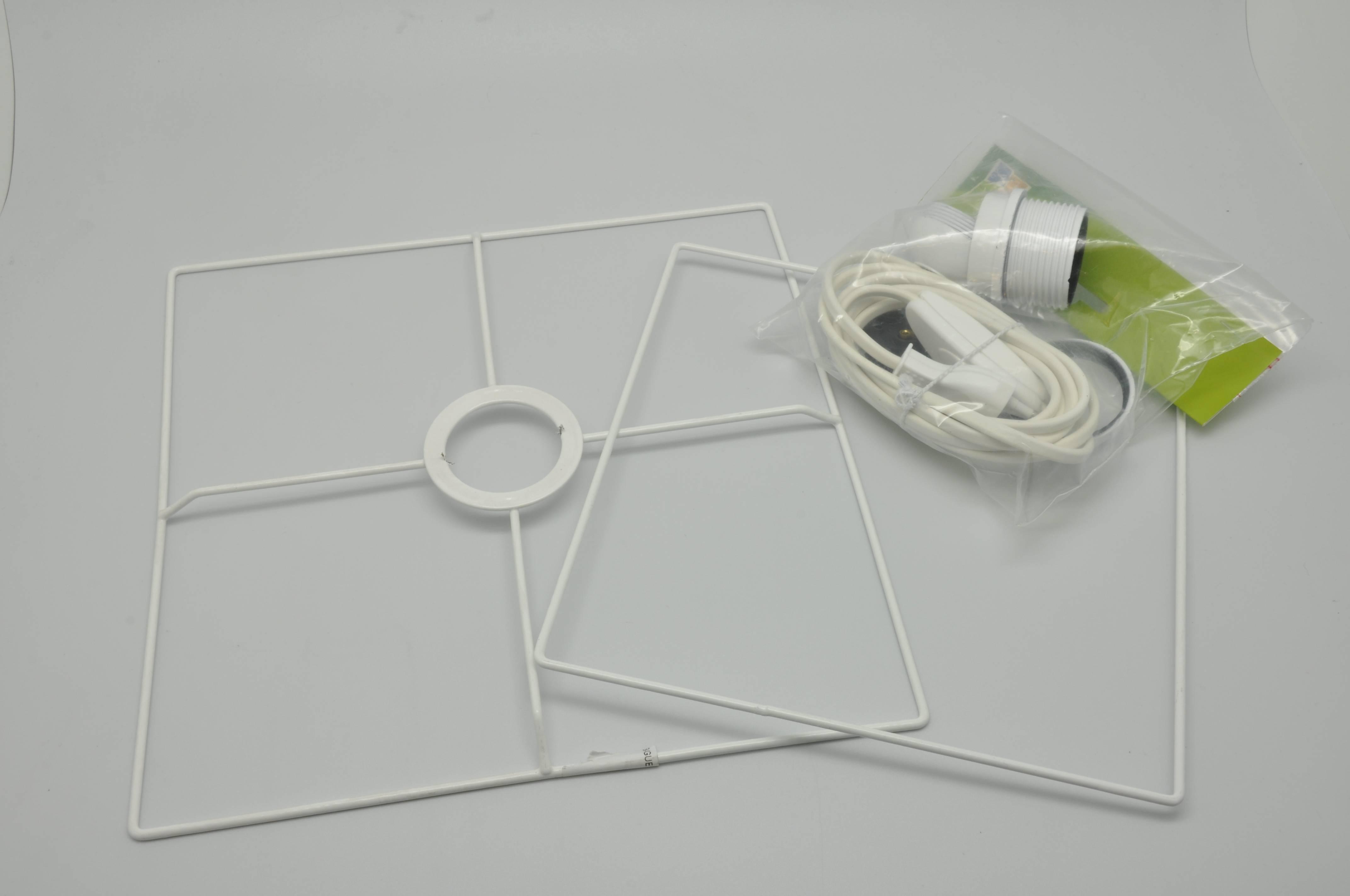 Fabriquer Carcasse Abat Jour kit armature abat-jour carré 25 cm