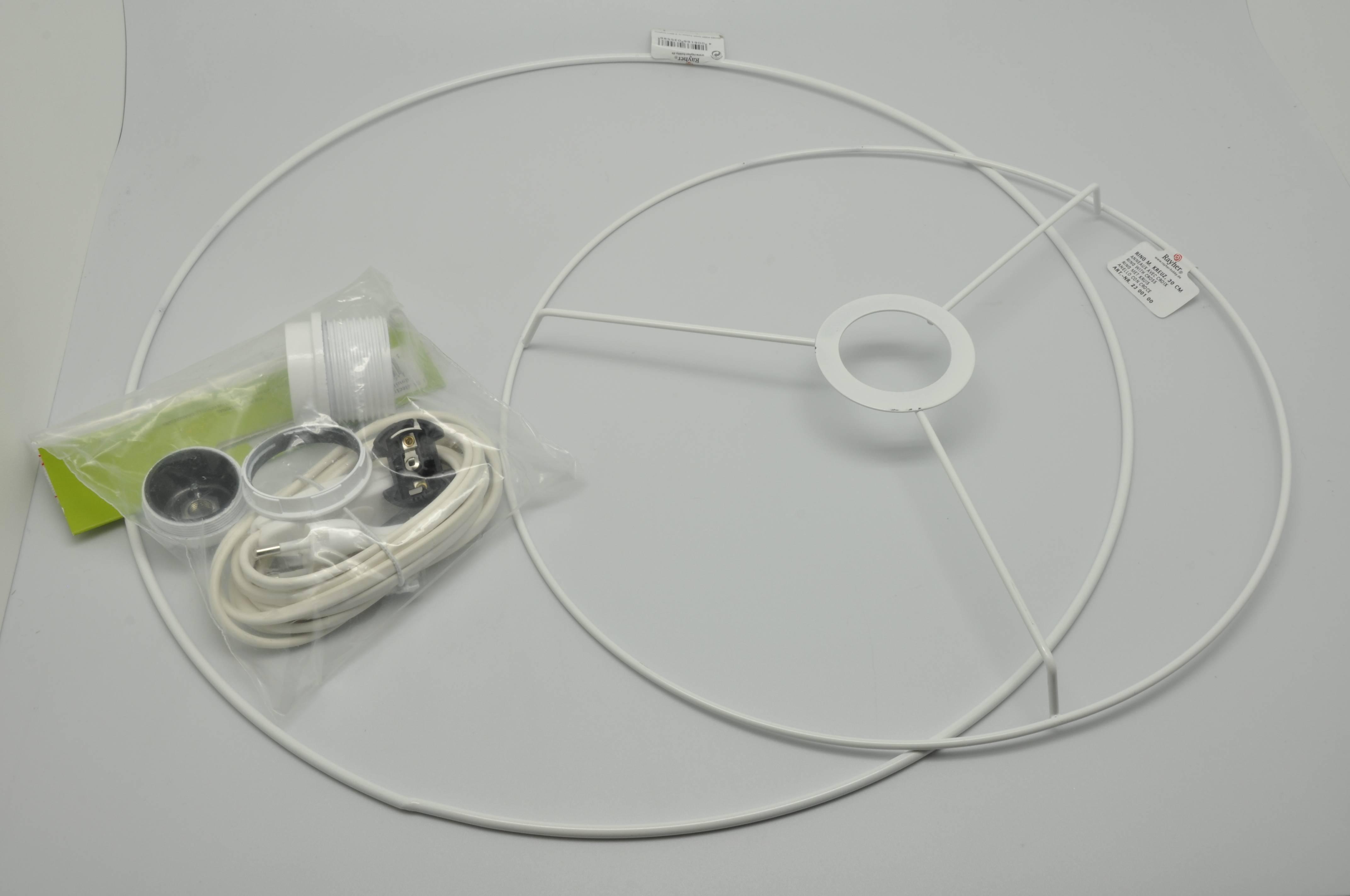 Fabriquer Carcasse Abat Jour kit armature abat-jour suspension conique Ø30 Ø40 cm