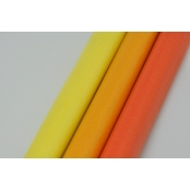 Papier vitrail transparent Citron, orange, mais 3 feuilles