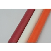 Papier vitrail transparent Orange, blanc, rouge 3 feuilles