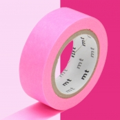 Masking Tape MT 1,5 cm Uni rose fluo