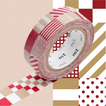 MT01D121Z - 4971910185711 - Masking Tape (MT) - Masking Tape MT 15 mm Rayé carré rouge - 2