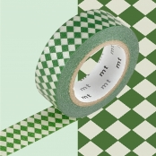 Masking Tape MT 1,5 cm Carreaux vert & or