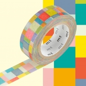 Masking Tape MT 1,5 cm Mosaic couleurs vives
