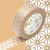 Masking Tape MT 1,5 cm Étoile or