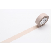 Masking Tape MT 1,5 cm Uni Pastel marron