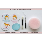 Palette Maquillage enfant 4 couleurs Indiens