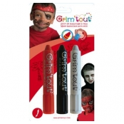Crayons maquillage sans parabène 3 sticks Pirate/Vampire