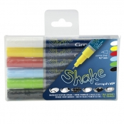 Set de 6 Marqueurs Graph'it Shake Extra Fine Basic colors