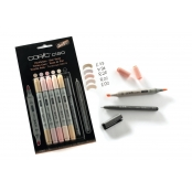 Set 5 marqueurs Copic Ciao Teintes Chairs + 1 Multiliner gratuit