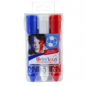 Crayons maquillage tricolore 3 sticks Match Supporter