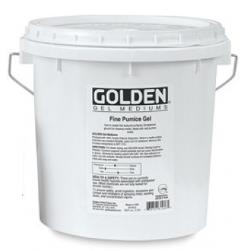 L-03200 - 0738797914537 - Golden - Mortier pierre ponce Grain moyen (Pumice Gel) 3,78L