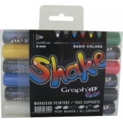 Set de 6 Marqueurs Graph'it Shake Medium Basic
