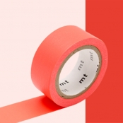 Masking Tape MT 1,5 cm Extra fluo luminescent rouge - red