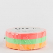 Masking Tape MT Slim 6 mm Set de 3 - unis I (FLUO)