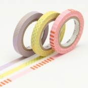 Masking Tape MT Slim 6 mm Set de 3 - deco A