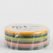 Masking Tape MT Slim 6 mm Set de 3 - deco B