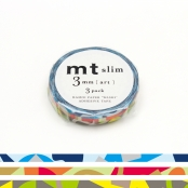 Masking Tape MT Slim 3 mm Set de 3 mosaïque - art