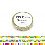Masking Tape MT Slim 3 mm Set de 3 pop