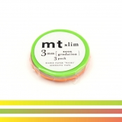 Masking Tape MT Slim 3 mm Set de 3 dégradé néon - neon gradation