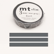 Masking Tape MT Slim 3 mm Set de 3 uni gris - matte gray
