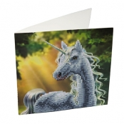 Carte à diamanter Strass Crystal Art Licorne 18 cm