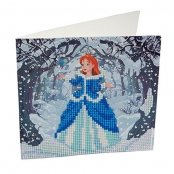 Carte à diamanter Strass Crystal Art Princesse 18 cm