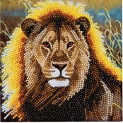 Carte à diamanter Strass Crystal Art Lion 18 cm