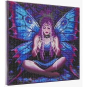 Tableau Strass Diamant Crystal Art Fée 30cm by Anne Stokes